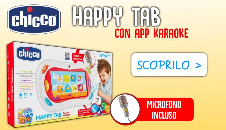 Acquista ora il tuo nuovo Chicco Happy Tab con App Karaoke