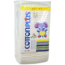 Cotton Plus Quadrotti Baby 100% Cotone 60 pezzi