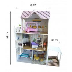 ODG Casa delle Bambole in Legno con Accessori