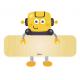 Terghetta in Legno con Nome per Bimbi Robot Igo - Dekori