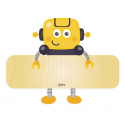 Targhetta in Legno con Nome per Bimbi Robot Igo - Dekori