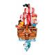 Dekori Orologio Pirata 3D da Parete